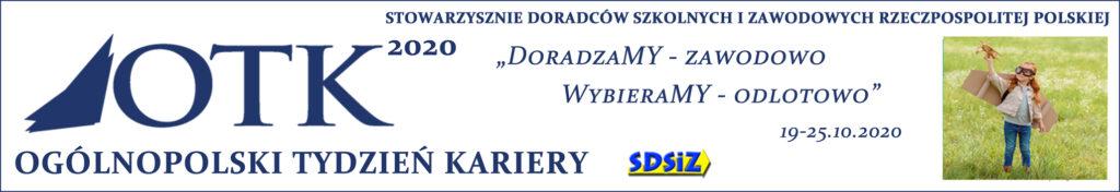 Obraz / baner zawiera hasła: Ogólnopolski Tydzień Kariery, Stowarzyszenie doradców szkolnych i zawodowych Rzeczpospolitej Polskiej