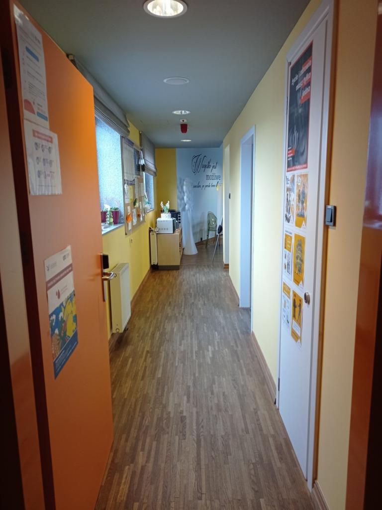 Pomieszczenia Internatu - korytarz