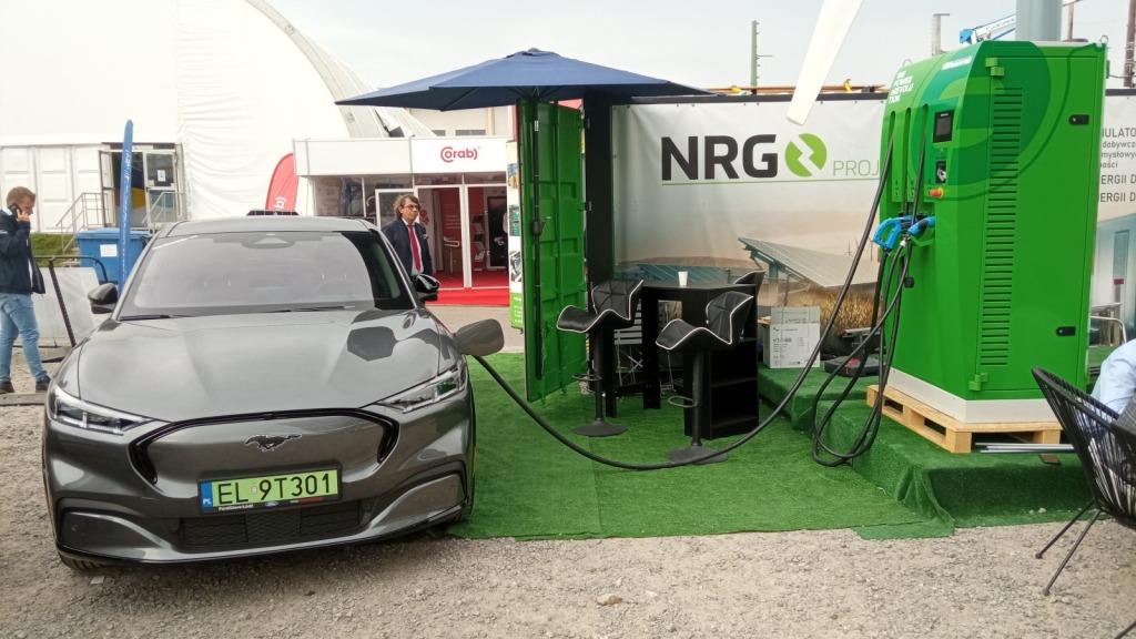 Stanowisko firmy Ford - producenta m.in. pojazdów elektrycznych, np modelu Mustang