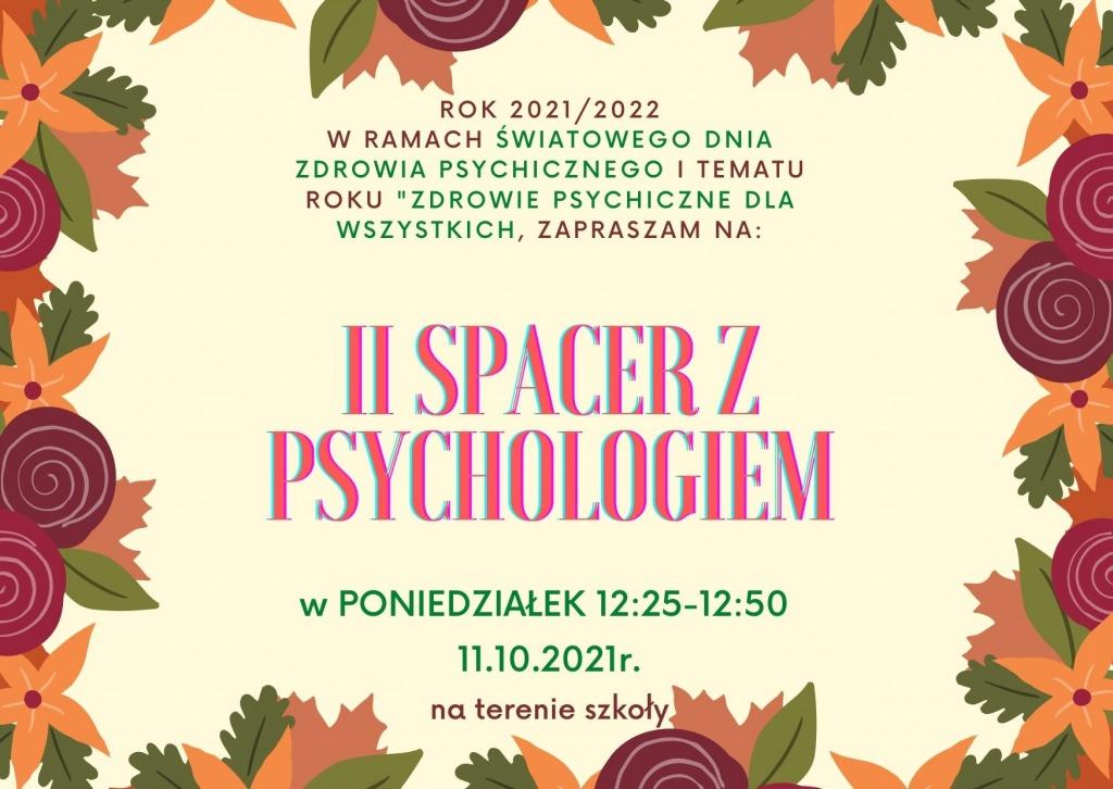 Kolorowe napisy wśród jesiennych liści : II spacer z psychologiem
