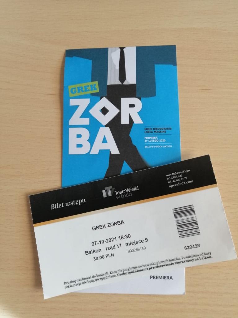 Bilet na przedstawienie